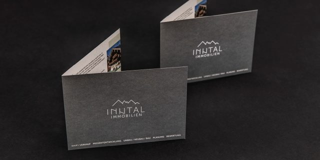 Inntal Immobilien Printmedien Flyer